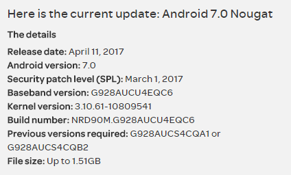 Install stock Nougat G928AUCU4EQC6 build on AT&T S6 Edge Plus G928A