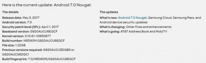 Install Stock Nougat G925AUCU6EQCF on AT&T S6 Edge SM-G925A
