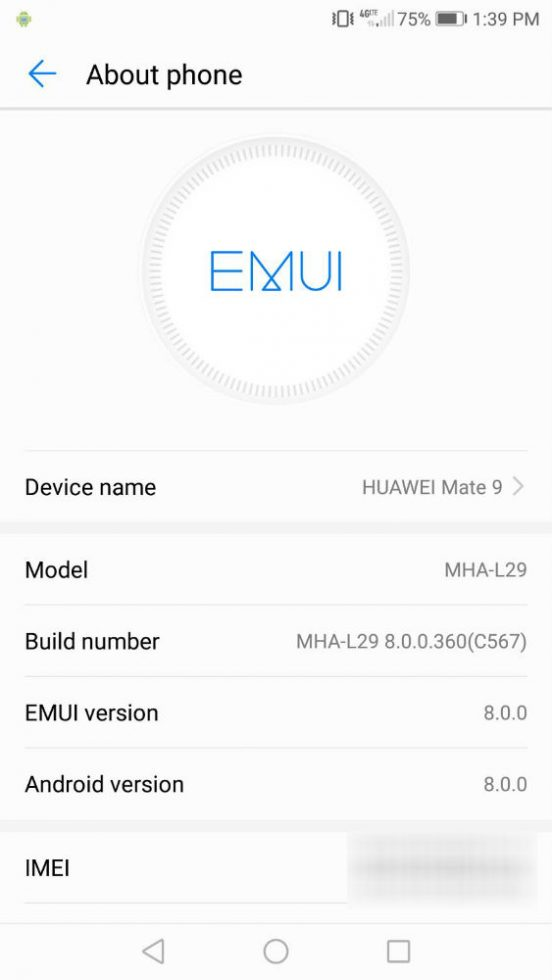 Official Oreo released for Huawei Mate 10 MHA-L09/L29 in the