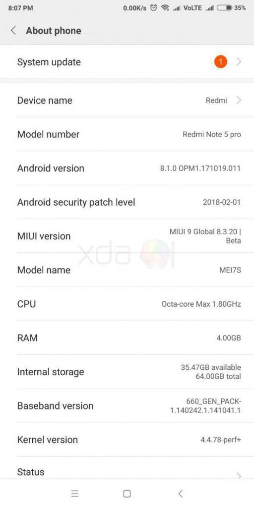 Download MIUI 9 Global Beta Android 8 1 Oreo ROM for Redmi Note 5